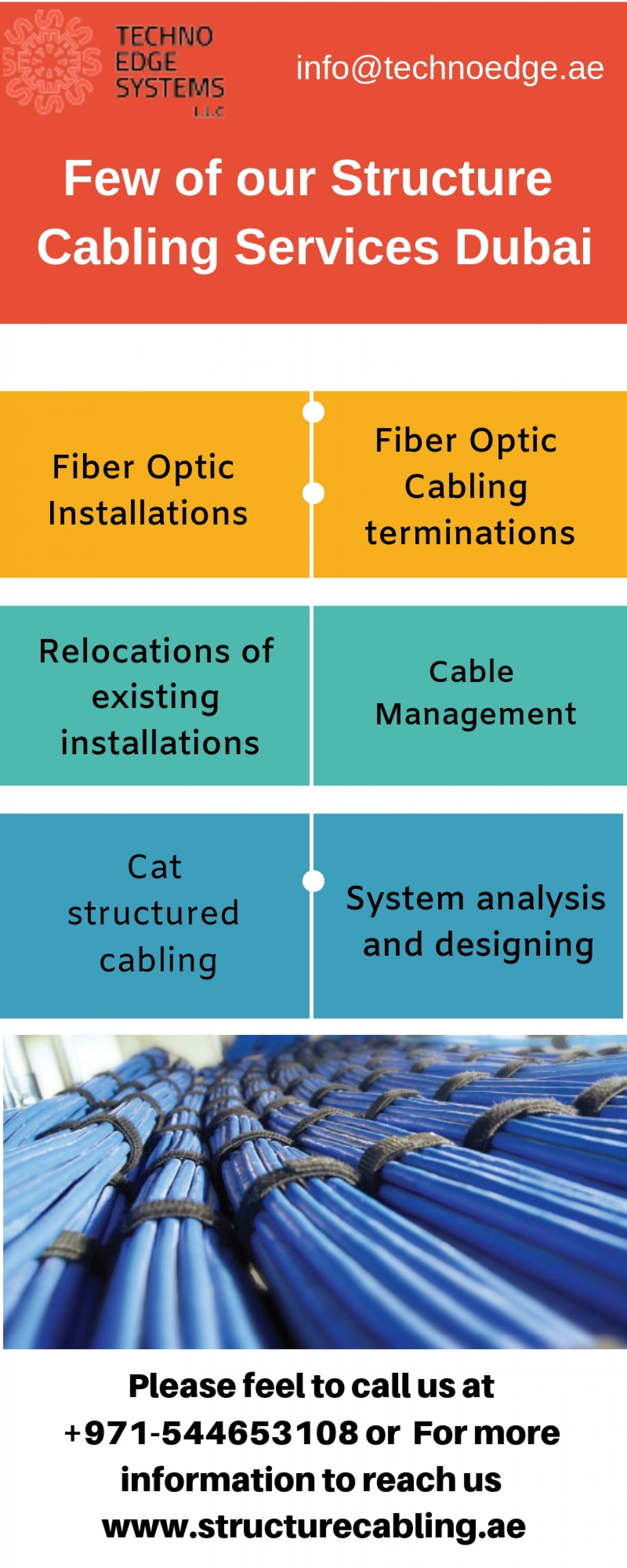 Best Structure Cabling Service in Dubai Infographic