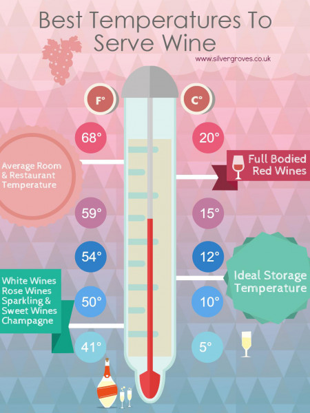 Best Temperatures To Serve Wine Infographic