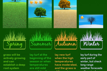Best Time of Year to Lay Turf Infographic