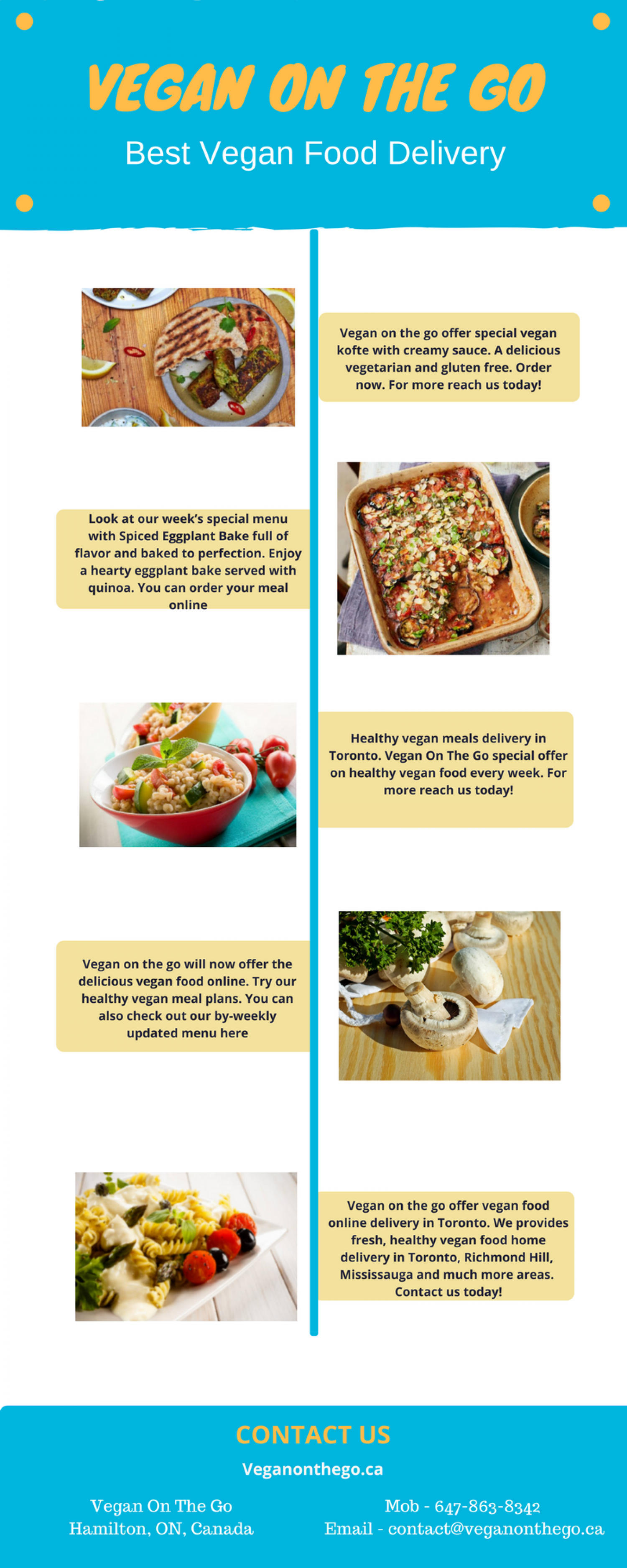 Best Vegetarian Food Delivery - Vegan on the go Infographic
