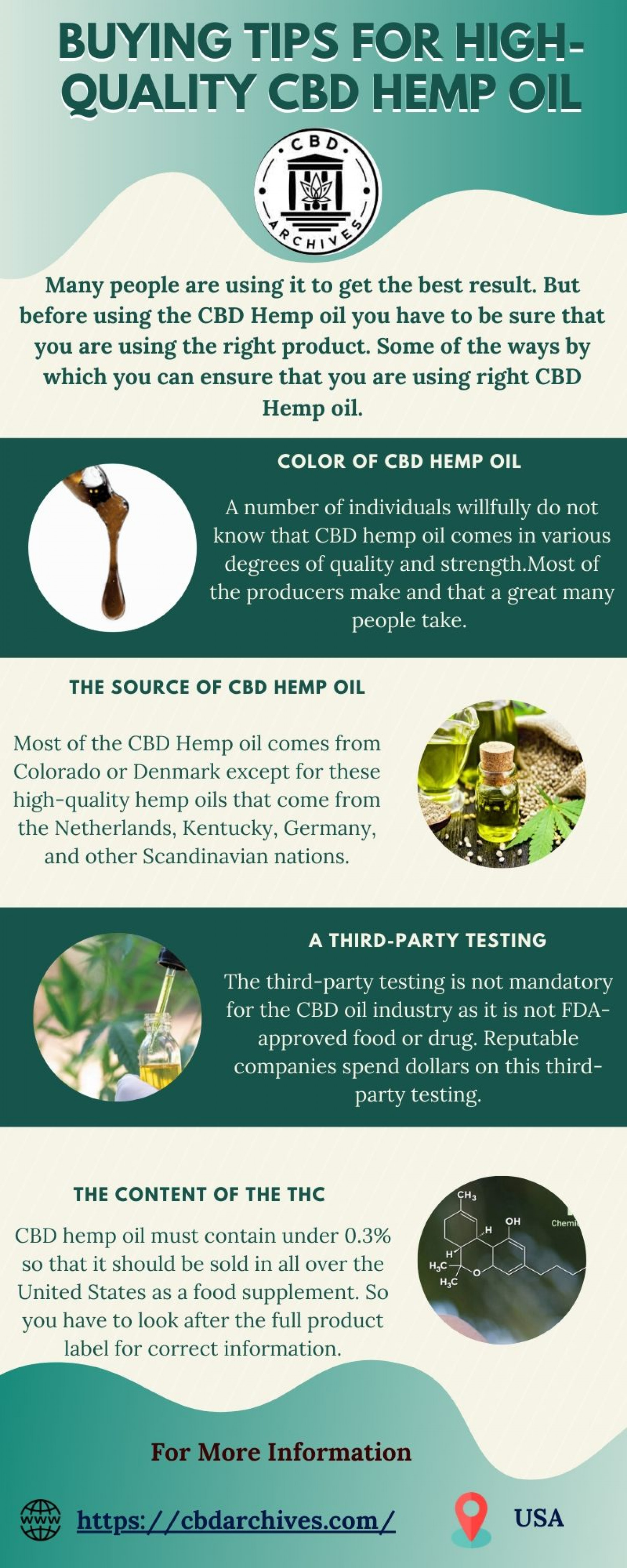 Best Way To Purchase The High Quality Of Hemp Oil Infographic