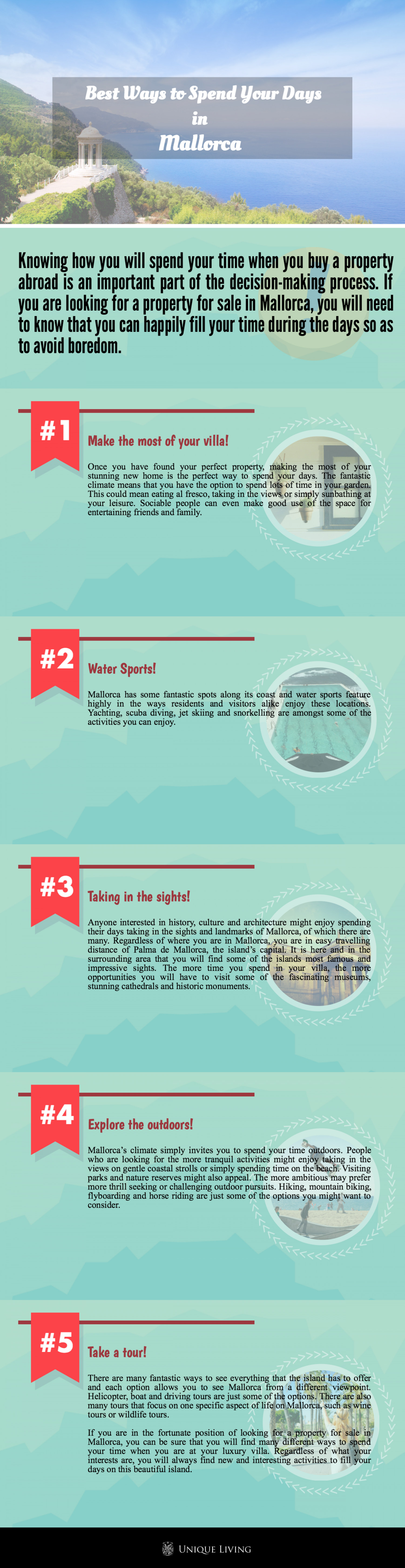 Best Ways to Spend Your Days in Mallorca Infographic