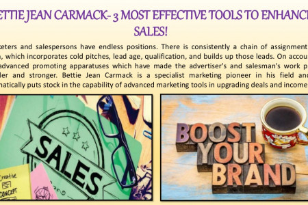 BETTIE JEAN CARMACK- 3 MOST EFFECTIVE TOOLS TO ENHANCE SALES! Infographic