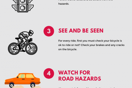 Bicycle Safety Tips for Students. Infographic