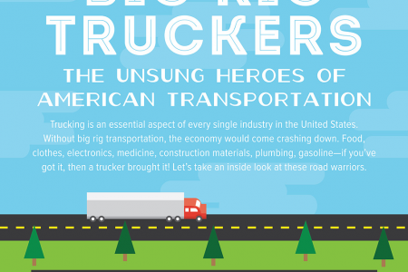 Big Rig Truckers - The Unsung Heroes of American Transportation Infographic