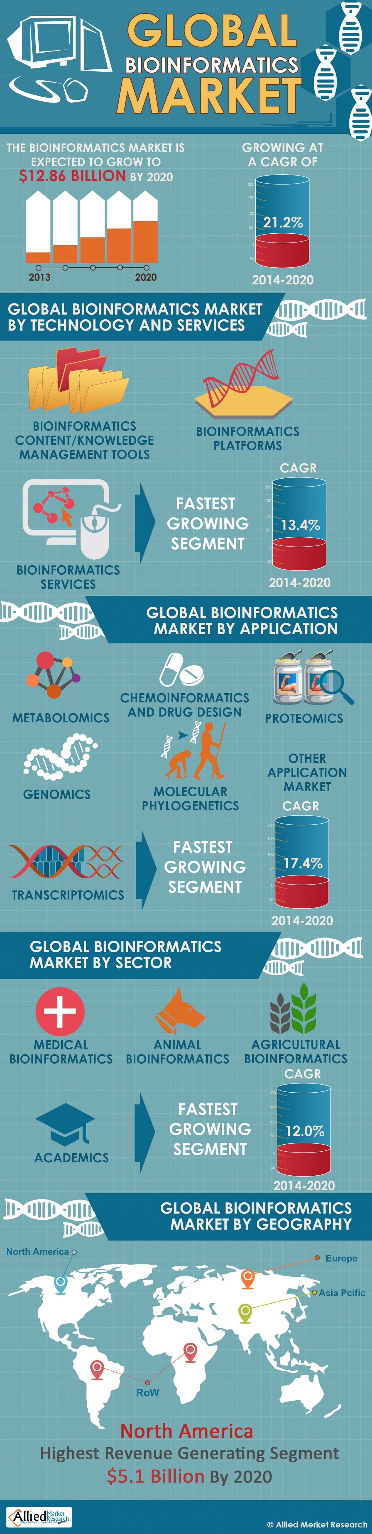 Global Bioinformatics Market  Infographic