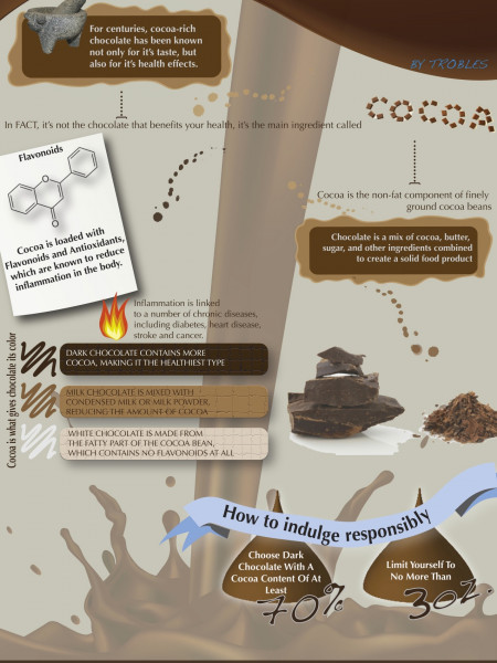 Bittersweet Health Facts about Chocolate Infographic