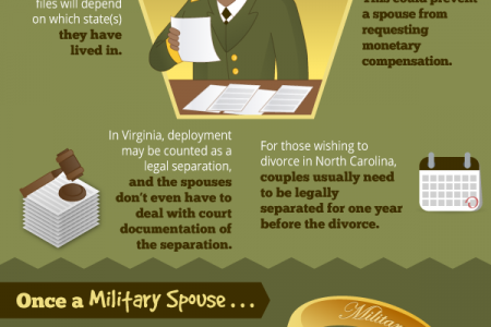 Bizarre Facts About Military Divorces Infographic