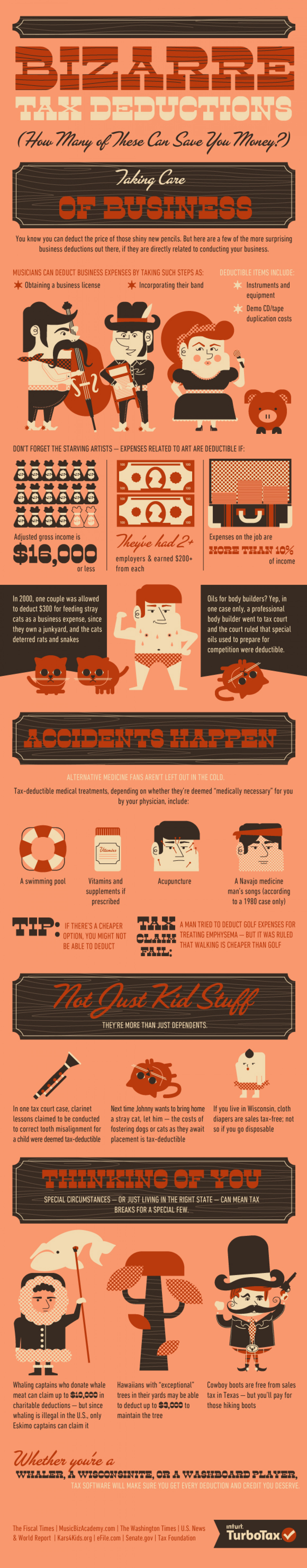 Bizarre Tax Deductions Infographic