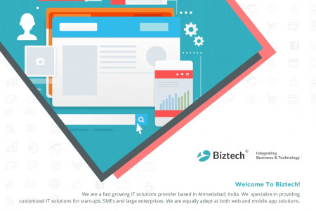 Biztech Consulting & Solutions Company Brochure Infographic