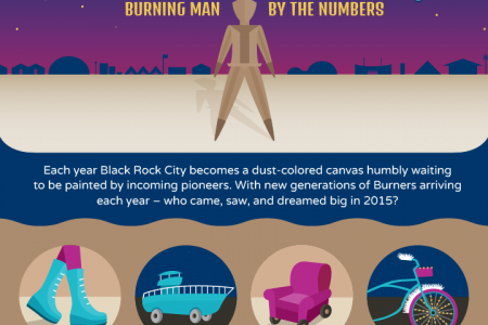 Black Rock City: Burning Man by The Numbers Infographic