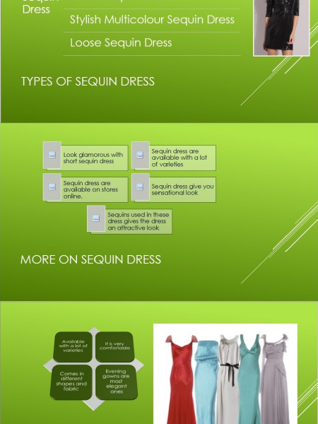 Black Sequin Dress Infographic
