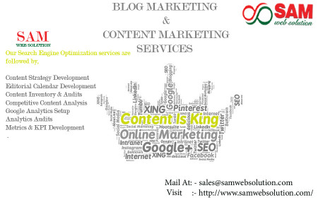 Blog Marketing And Content Marketing Infographic
