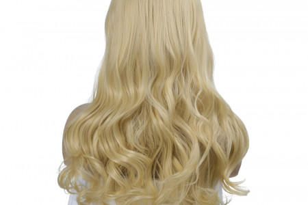 Blonde Middle Part Synthetic Wig Shoulder Length Wavy Wig Hot Sale Infographic