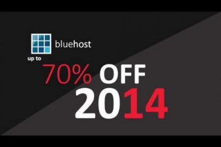 BlueHost 70% discount offer Infographic