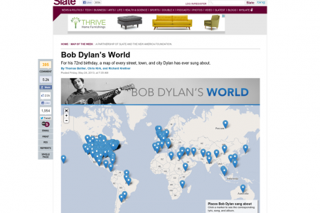 Bob Dylan's World Infographic
