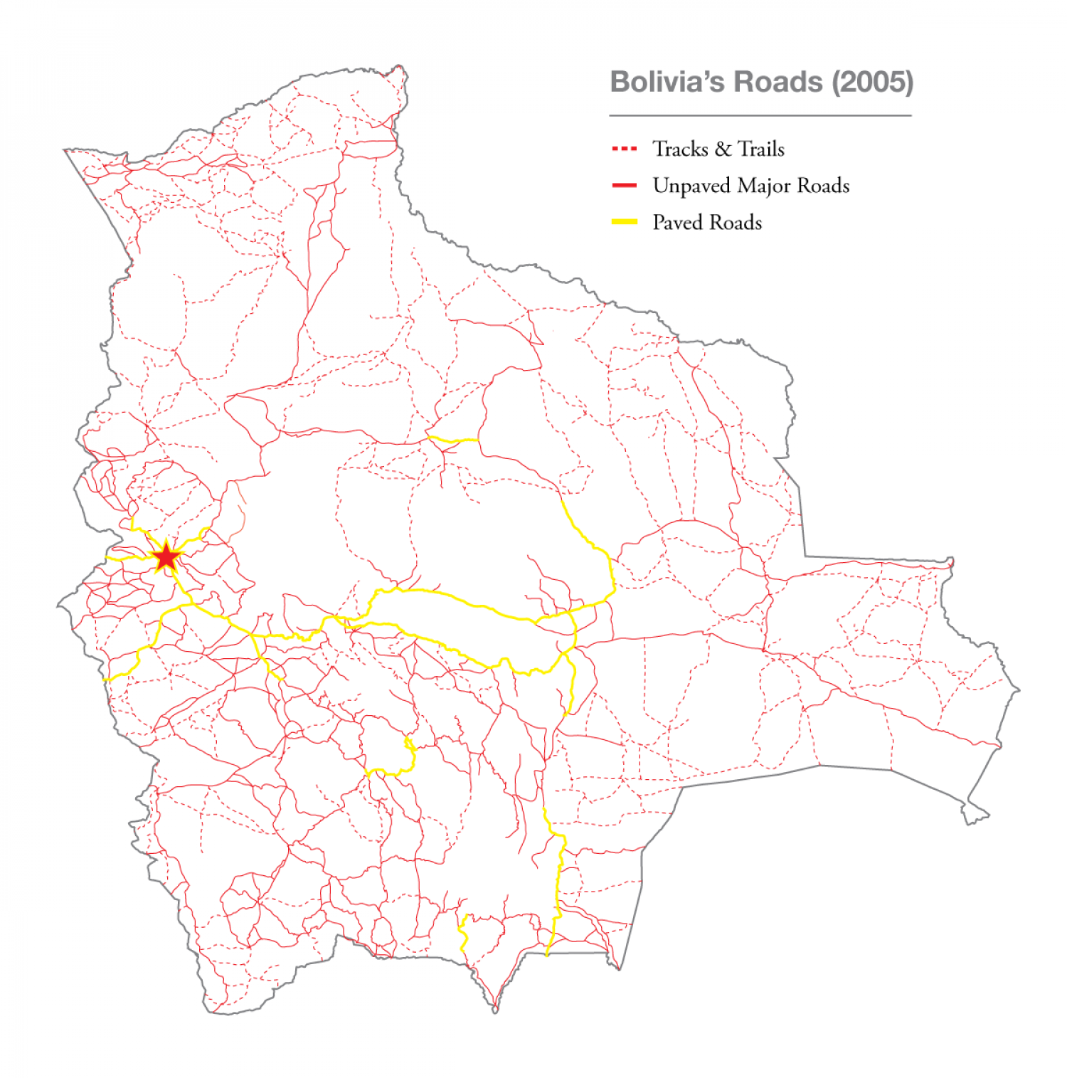 Bolivia's Roads (2005) Infographic