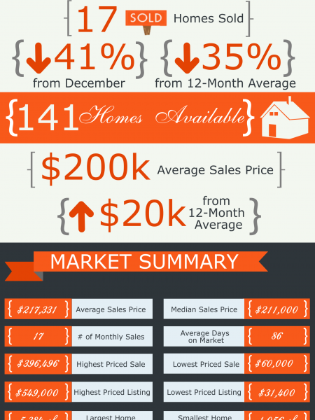 Bonaire GA Real Estate Market in January 2015 Infographic