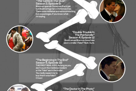 Bones TELEVISION Program Timeline of Passion Infographic