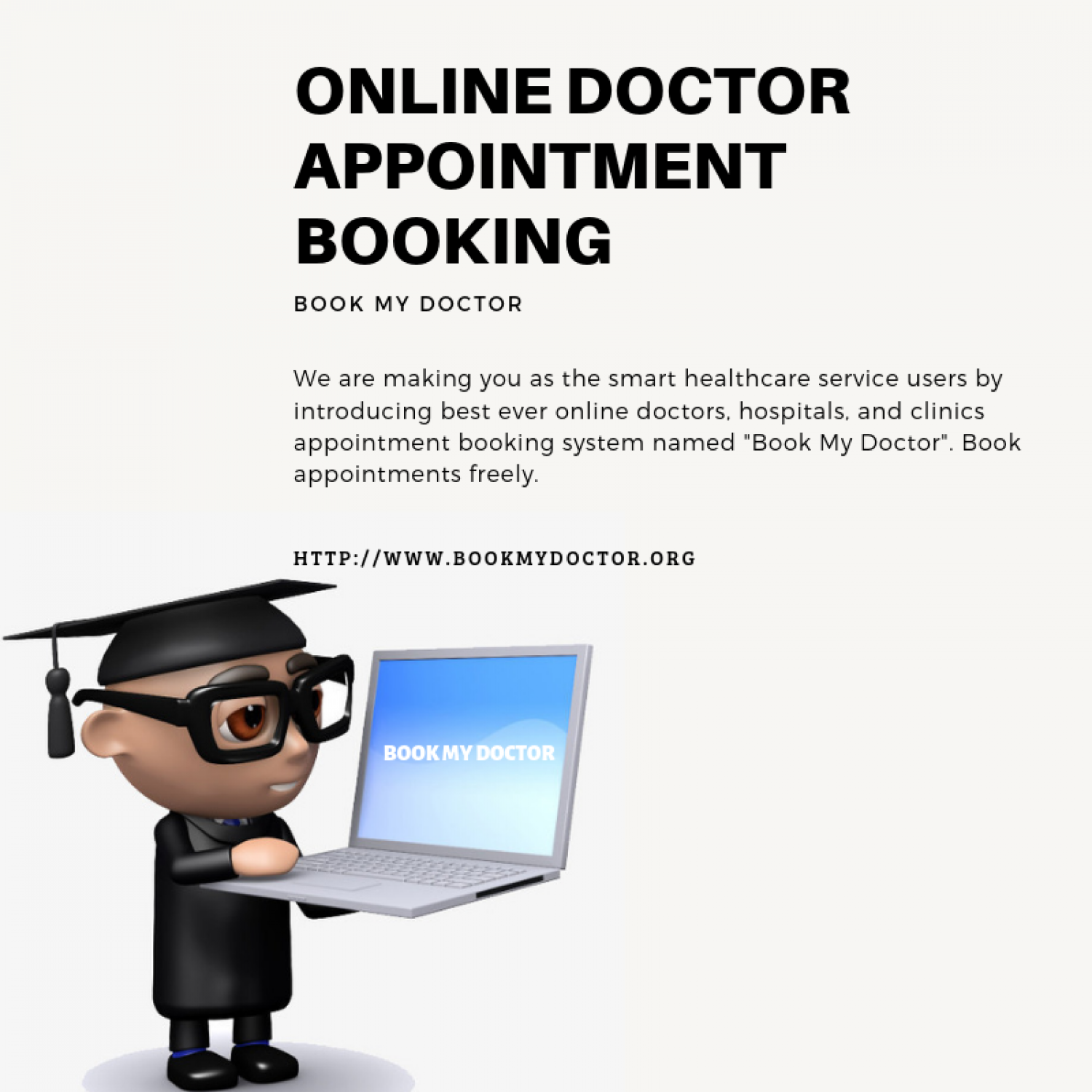 Book My Doctor: online healthcare Infographic