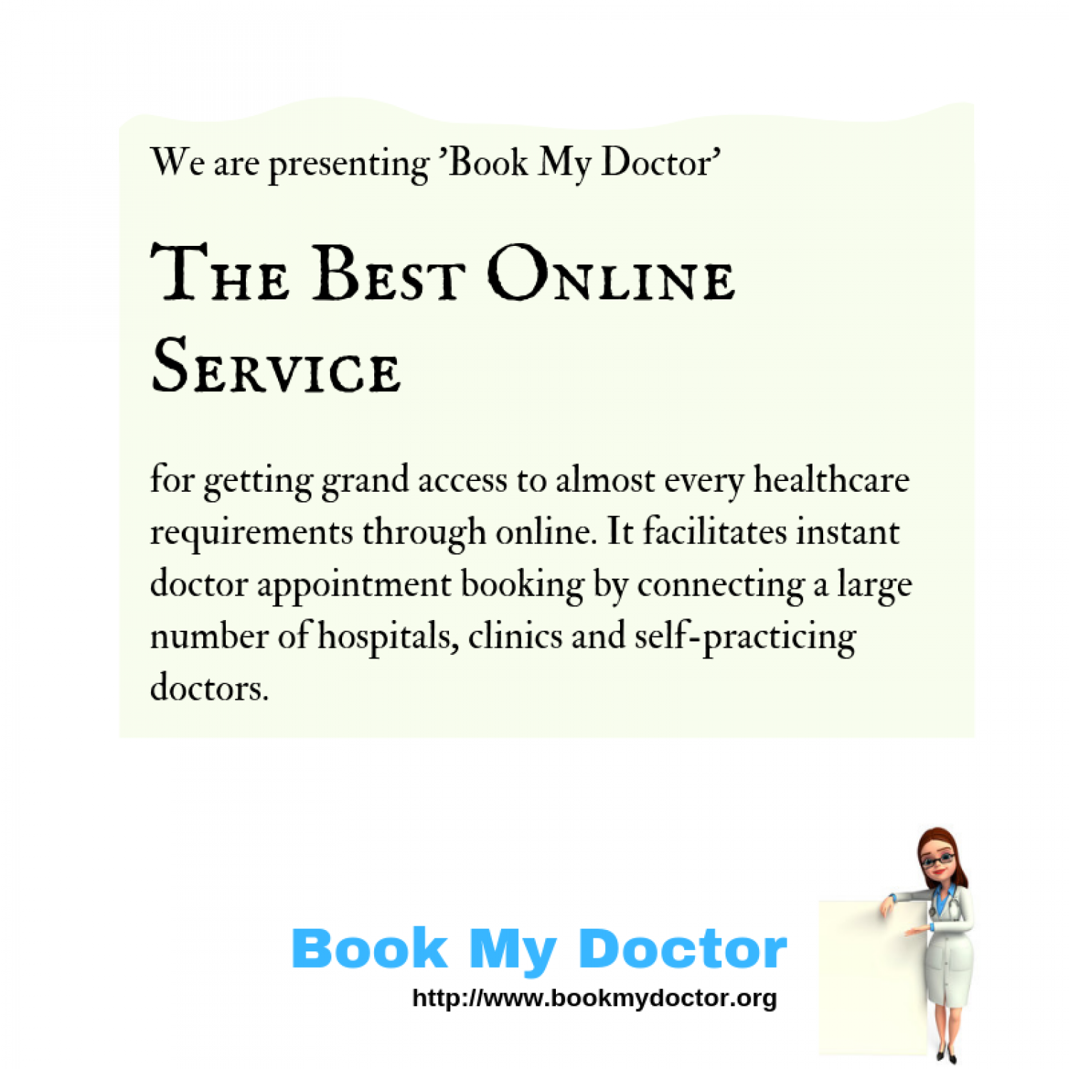 Book My Doctor: The future healthcare Infographic