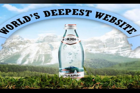 Borjomi Mineral Water: The World's Deepest Website - Case Study Infographic