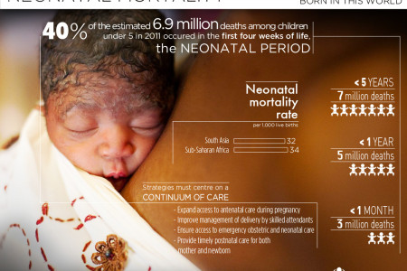 Born in this world: neonatal mortality Infographic
