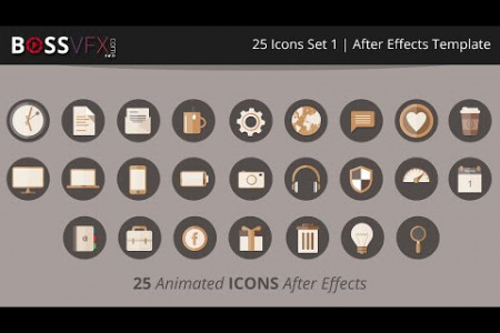 BOSSVFX | 25 Icons Set 1 - After Effects Template  Infographic