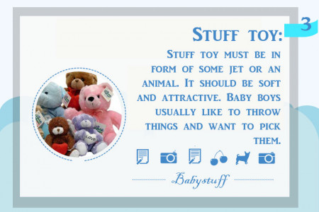 Boys Customized Baby Gifts Infographic