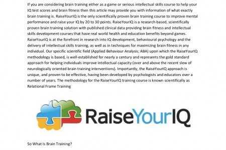 Brain Training Infographic