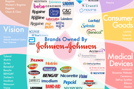 Brands Owned by Johnson & Johnson  Infographic