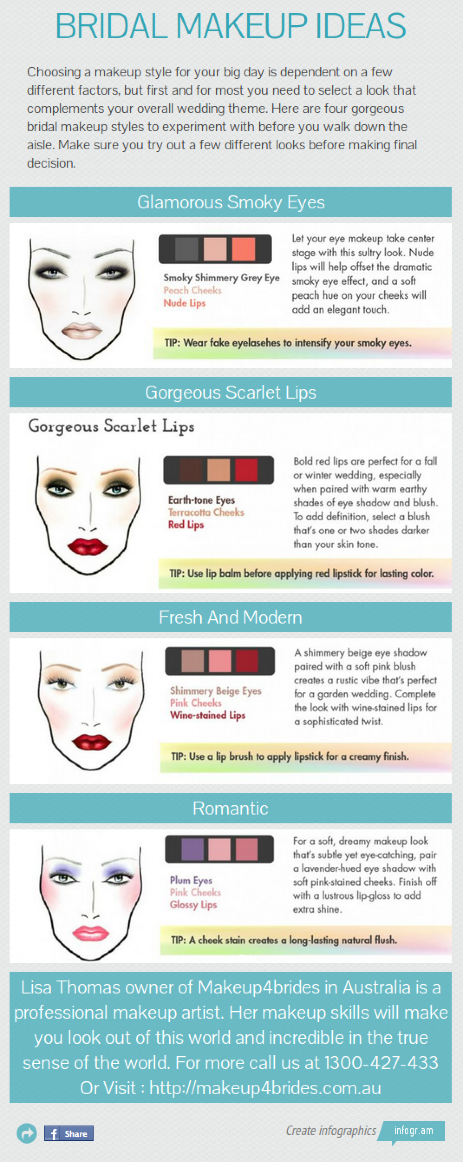 Bridal Makeup Ideas Infographic