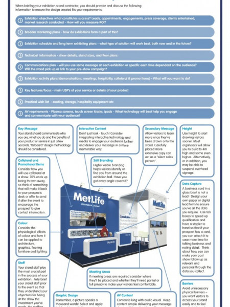 Briefing Your Exhibition Stand Partner  Infographic