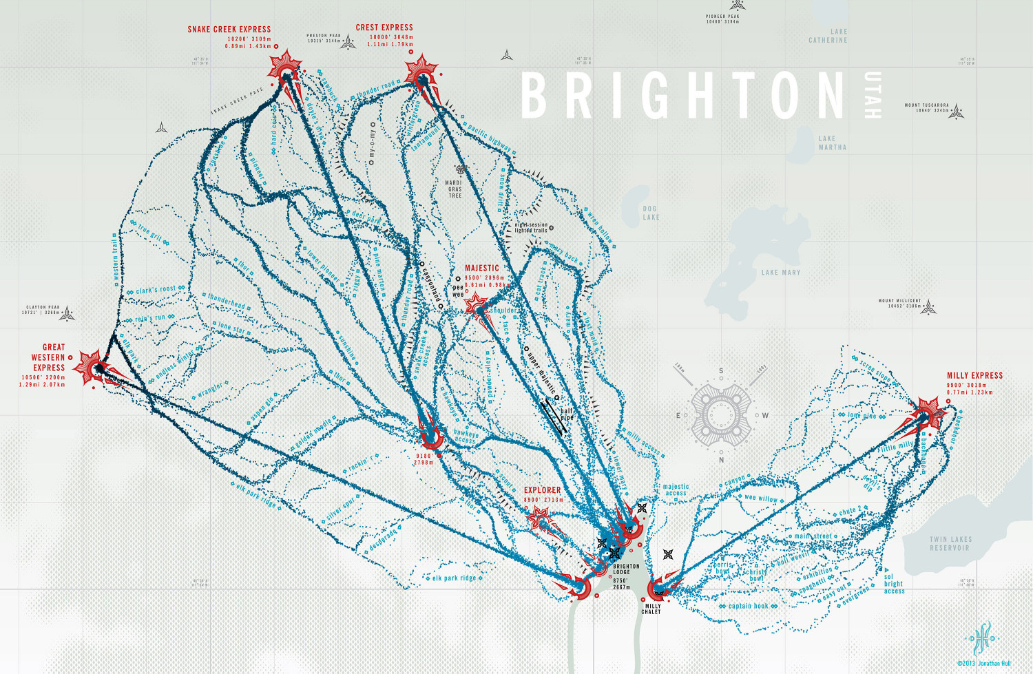 Brighton Resort Trail Map Infographic