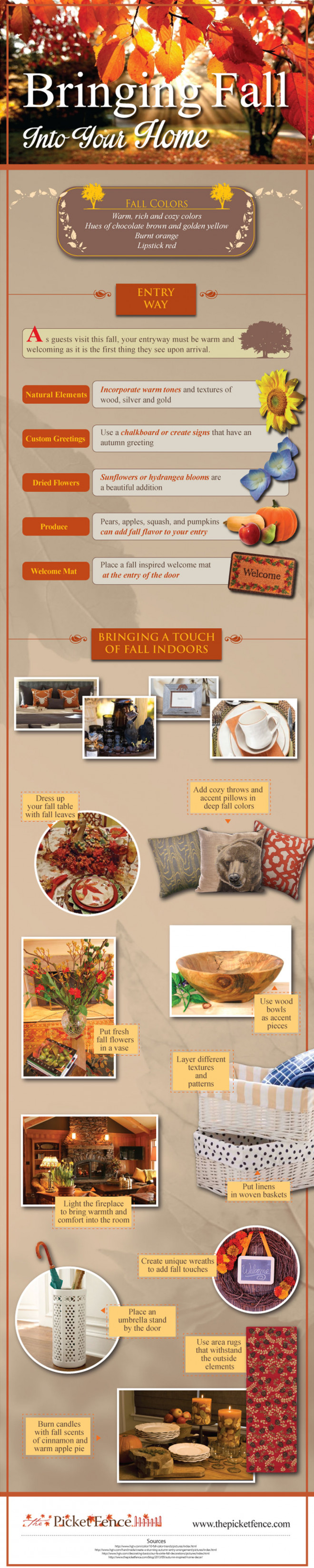 How to Bring the Scents, Colors and Textures of Fall into Your Home - Infographic