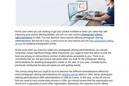 Browsing Among Various Image Editing Services in USA Infographic