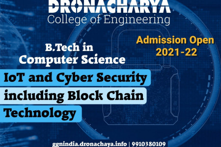 B.Tech in CSE (IoT and Cyber Security including Block Chain Technology) Infographic