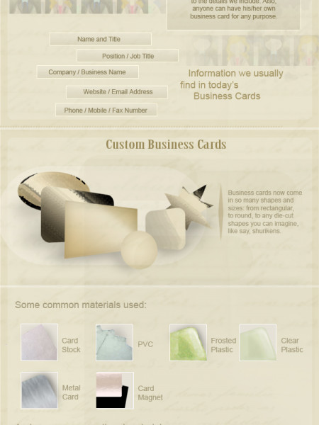 Business Cards: The Stuff They are Made of. Literally Infographic