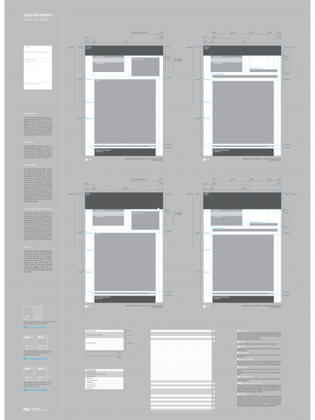Business letter according to DIN 5008 Infographic