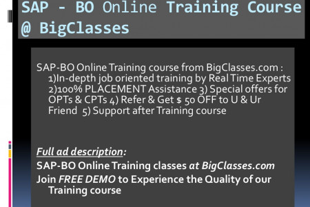 Business Objects Online Training Infographic