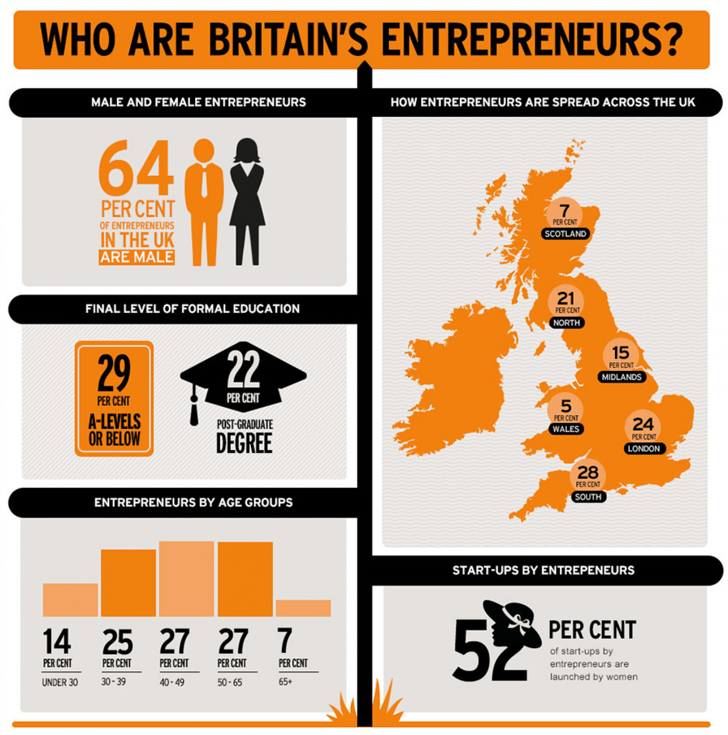 Business report: who is today's entrepreneur? Infographic