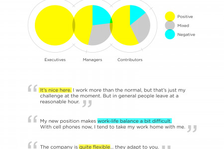 Business Research Pie Charts and Quotes Infographic