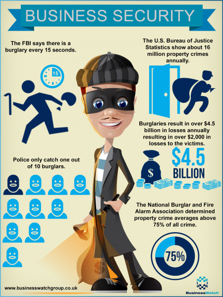 Business Security and Burglar Alarm Inforgraphic Infographic