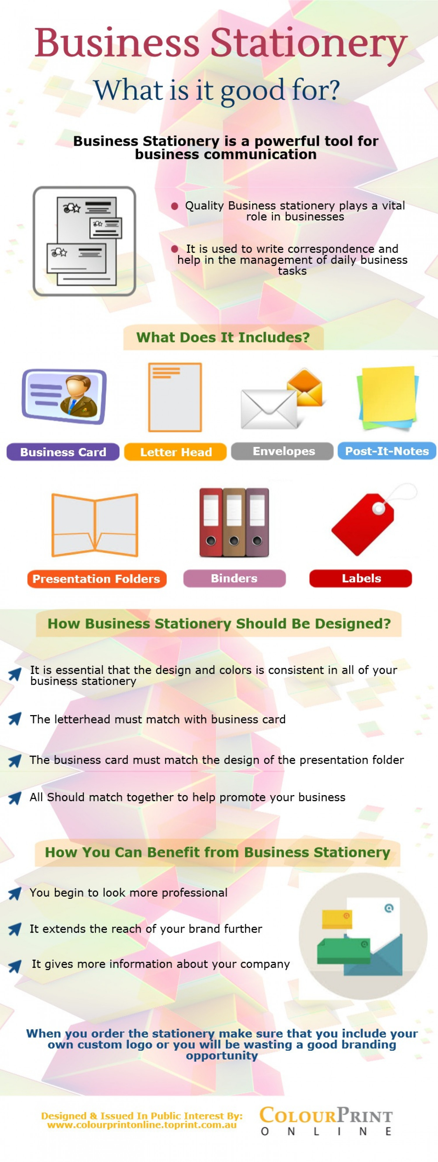 Business Stationery Infographic