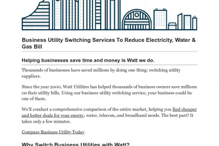 Business Utility Switching Service: Gas, Water & Electricity Infographic