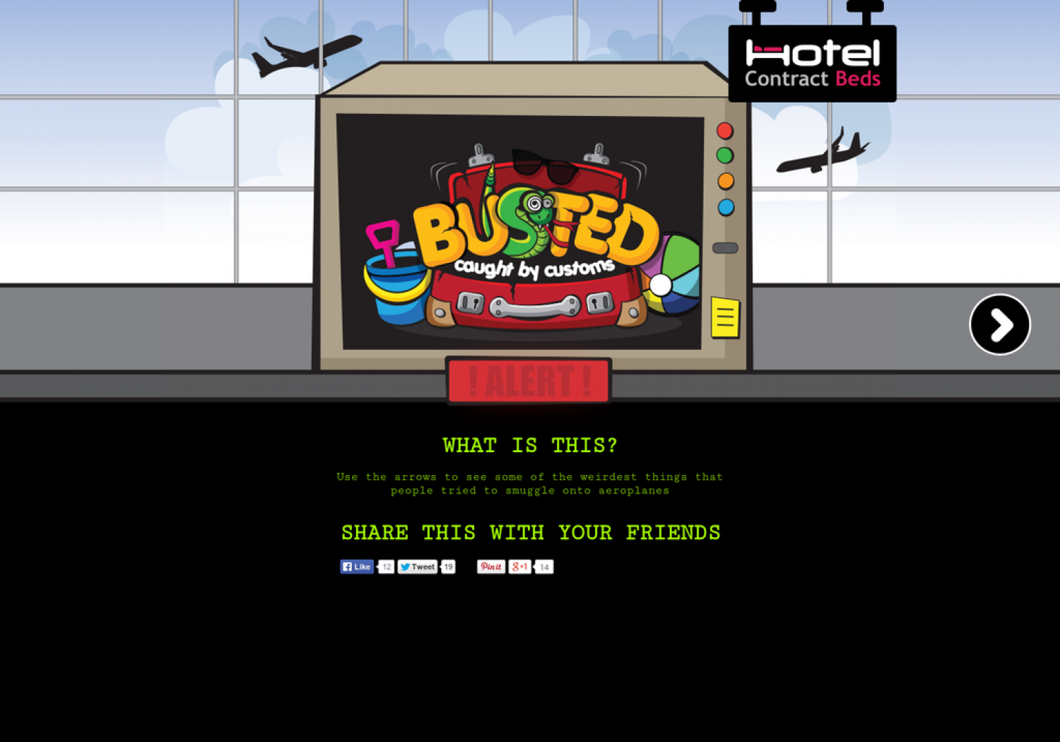 Busted! Caught at Customs Infographic