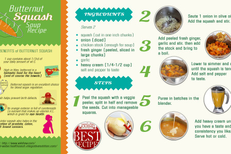 Butternut Squash Soup Recipe Infographic