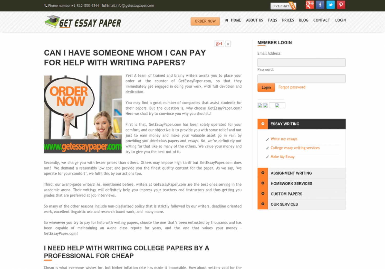 Buying essay