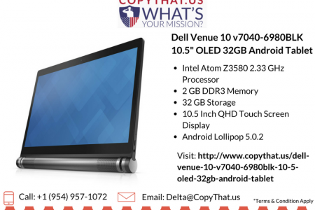 Buy Dell Venue 10 v7040-6980BLK 10.5