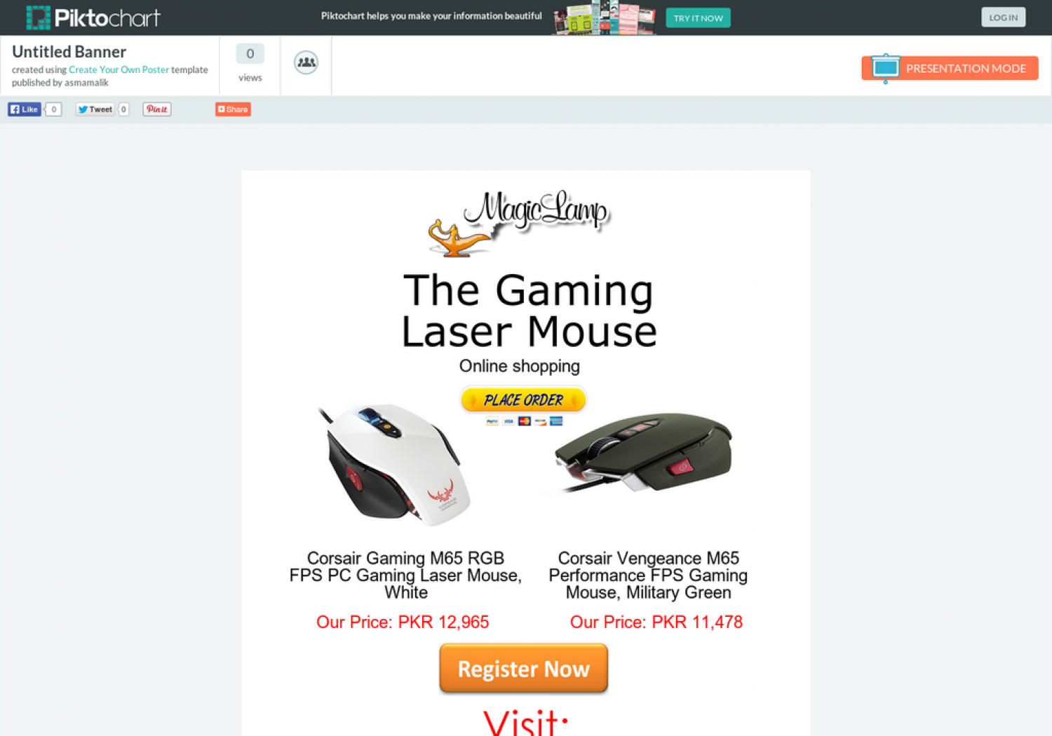 Buy Imported Mouse from online shop (magiclamp.pk) Infographic